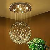 Sefinn Four Ball Shape / H32 X D18 K9 Raindrop Ceiling Light Modern Crystal Chandelier, Single For Sale