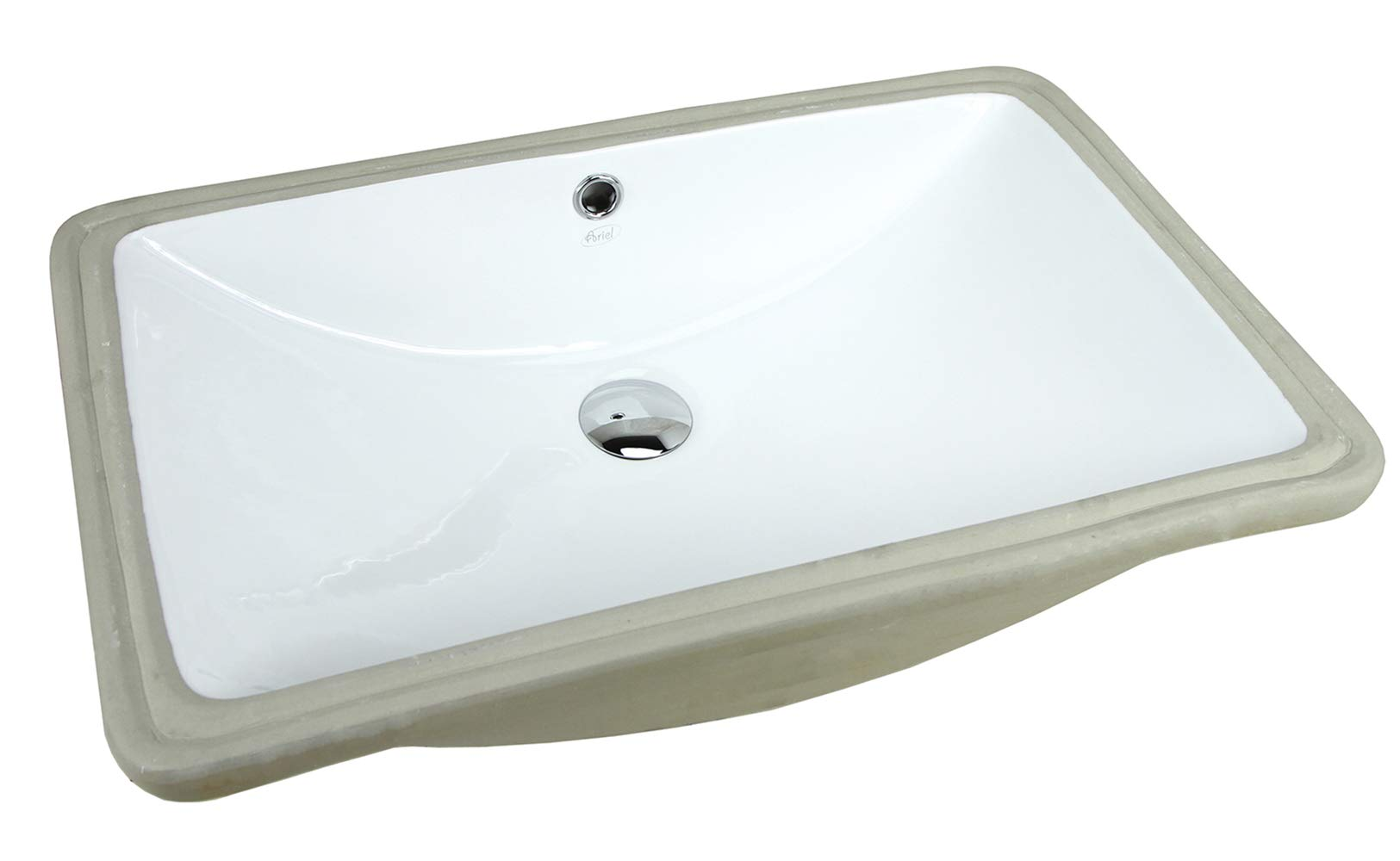 SUPER LARGE 24 Inch Rectrangle Undermount Vitreous Ceramic Lavatory Vanity Bathroom Sink Pure White RP492P