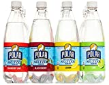 Polar 100% Natural Seltzer - 12 x 20 oz. - Variety Pack - (Lime, Lemon, Black Cherry, Cranberry Lime)