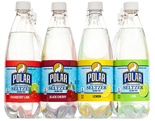 Polar 100% Natural Seltzer - 12 x 20 oz. - Variety Pack - (Lime, Lemon, Black Cherry, Cranberry Lime) made in New England