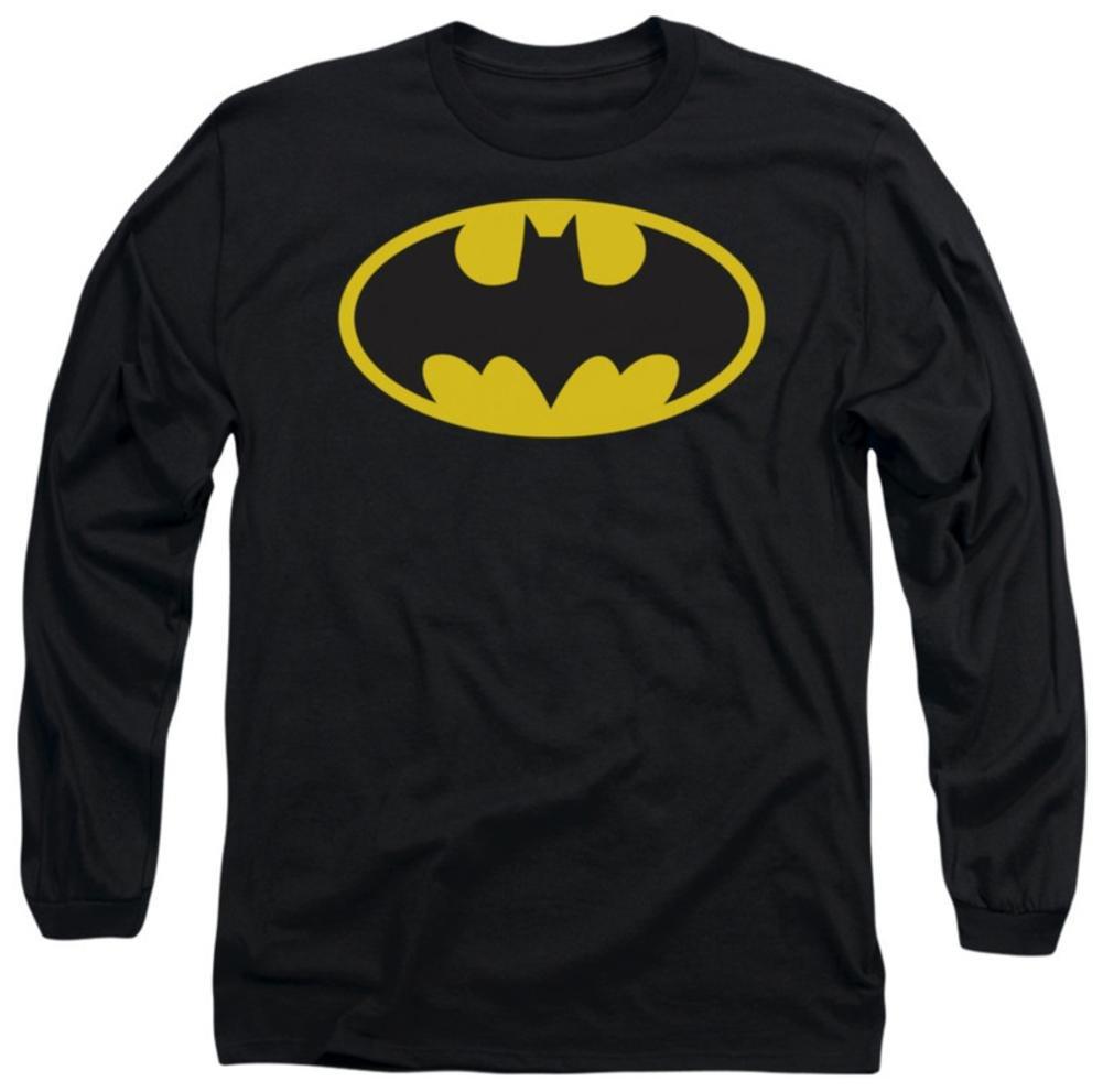 Batman Classic Logo Adult Longsleeve Tshirt
