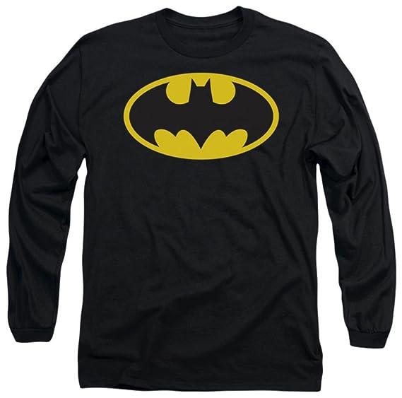 629b63e9f Amazon.com  Batman Classic Logo Adult Long-Sleeve T-Shirt  Movie And ...
