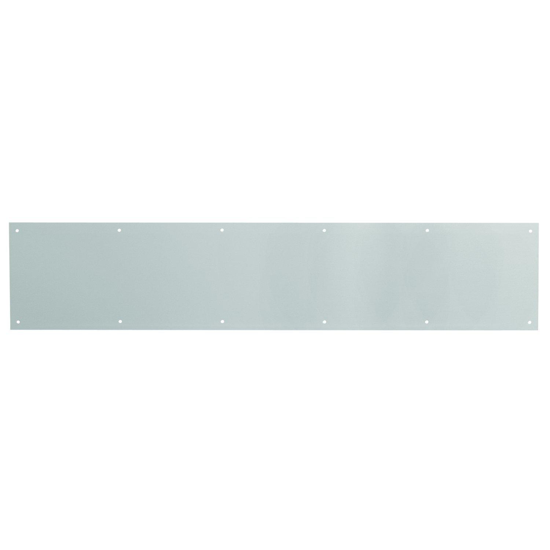 Prime-Line MP4702 Door Kick Plate, 6 x 34-Inch, Satin Aluminum, Pack of 1