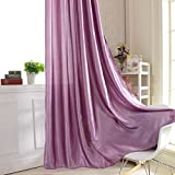 Forart Floral Tulle Voile Door Window Room Curtain Drape Panel Sheer Scarf Valances( Purple Backgroup Part)