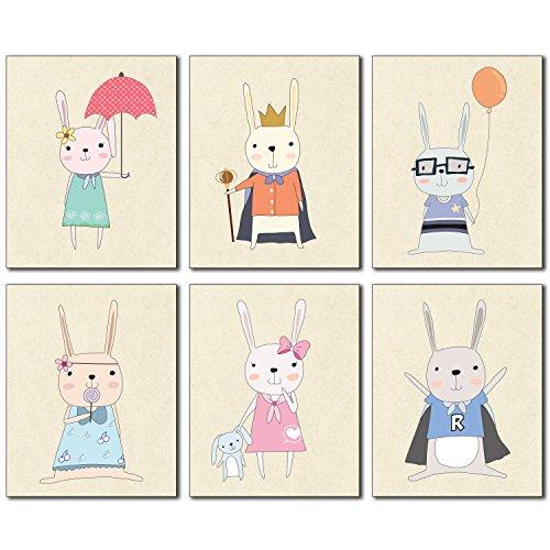 BigWig Photos Cute Bunny Nursery Decor 8x10 Poster Prints