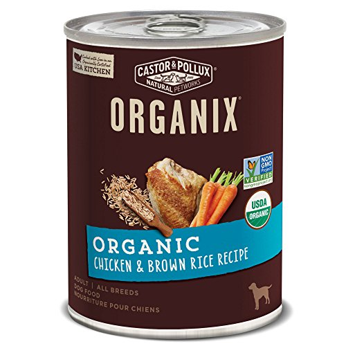 Castor & Pollux Organix Organic Chicken & Brown Rice Recipe Wet Dog Food, 12.7 Oz., Case Of 12 Cans (Best Canned Food For Humans)