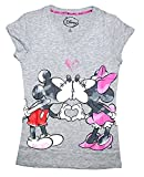 Disney Classic Mickey & Minnie Mouse Womens/Junior Pajama T Shirt Top - Grey