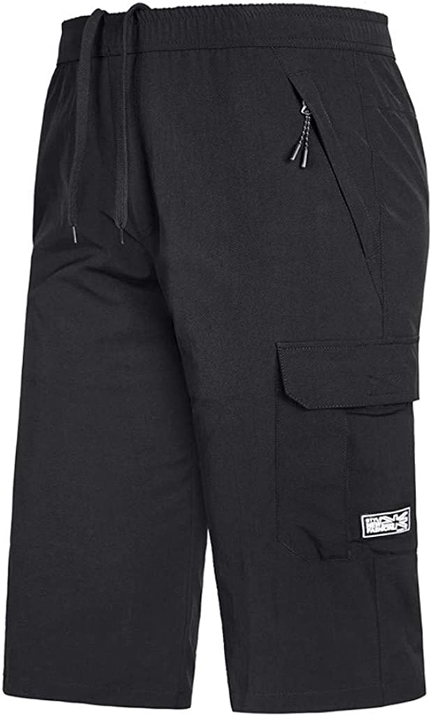 Giulot Mens 13 Tech Pleated Shorts Classic-Fit Jogging Athletic Short Pants Relaxed Fit Twill Running Workout Short