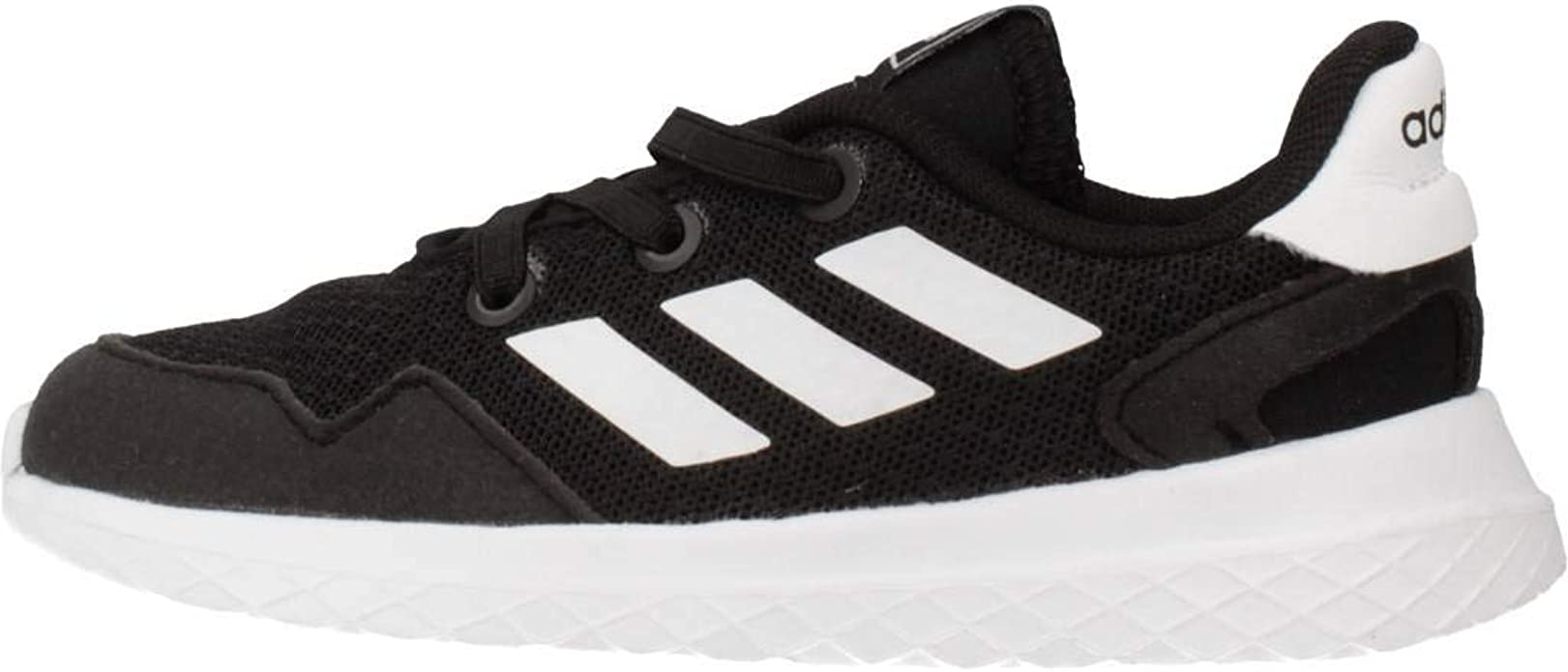 adidas Archivo Infant Toddler Kids Sports Trainer Shoe Black/White - UK