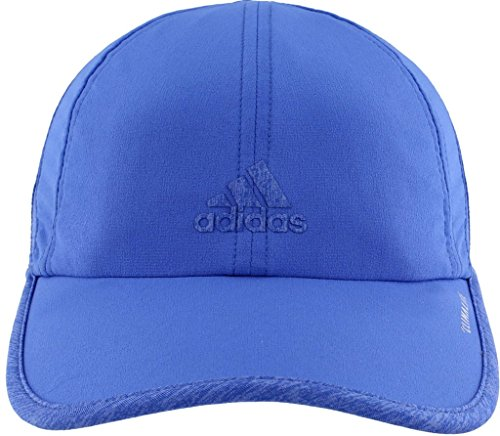 (adidas Women's Superlite Relaxed Adjustable Performance Cap, Hi-Res Blue/Hi-Res Blue/Chalk Purple Heather, One)
