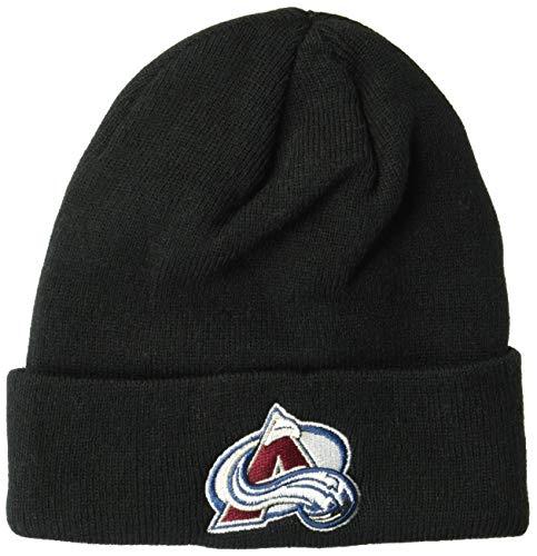 OTS NHL Colorado Avalanche Youth Raised Cuff Knit Cap, Black, Youth ()