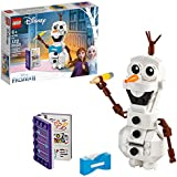 LEGO Disney Frozen II Olaf 41169 Olaf Snowman Toy Figure Building Kit Christmas Gift (122 Pieces)