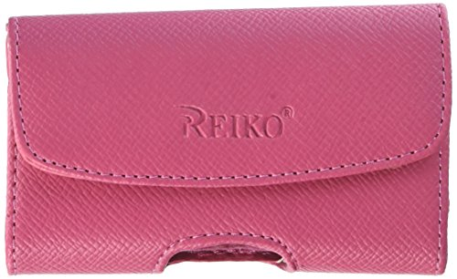 Reiko Wireless Horizontal Pouch Hp1023A BlackBerry 8300 Hot Pink 4.30