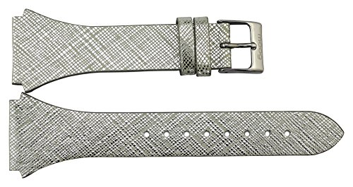 Moog Paris Silver Calf Leather Band Replacement, Pin Clasp, 24mm Strap _ (Moog Replacement)