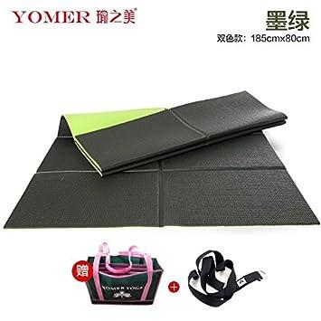 YOOMAT Yoga Mat 1.5Mm portátil Ultra Delgada de Caucho ...