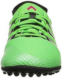 adidas Performance Ace 16.3 Primemesh TF J Soccer Shoe (Little Kid/Big Kid),Green/Shock Pink/Black,1.5 M US Little Kid
