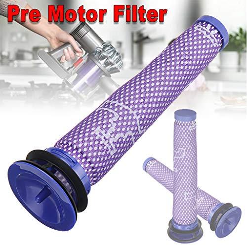 Vovomay 3PC Compatible Pre-Filter Washable Pre Motor Filter for Dyson DC58 DC59 V6 V7 V8 (Pre Grill Filter)