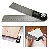 Cisixin Digital 2 in 1 Angle Finder Meter Digital Protractor Angle Finder Stainless Steel Angle Finder Ruler with LCD Display Protractor Level Measuring Tools