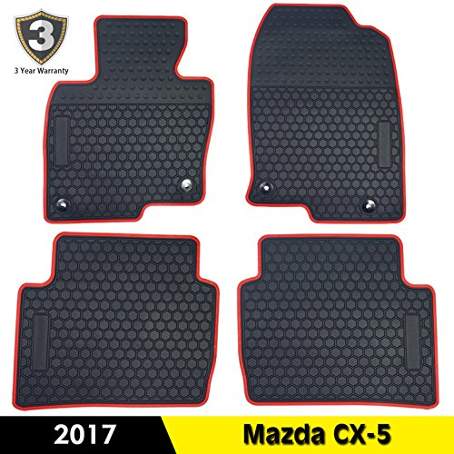 Fit For Mazda CX-5 2017 All Weather Floor Mats Cab Front & Rear Rubber Mat Floor (Rear Cab Support)