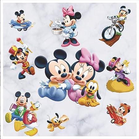 Pegatinas Infantiles Pared Minnie Pegatinas Stickers Pared Mickey Dormitorio Calcomanias para dormitorio de beb/é y ni/ños 20 30cm 4Pcs