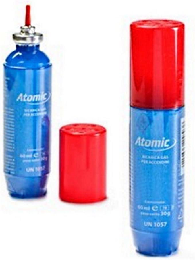 ATOMIC 1 Recarga Gas Universal Encendedor Gas 60 Ml 5 Puntas