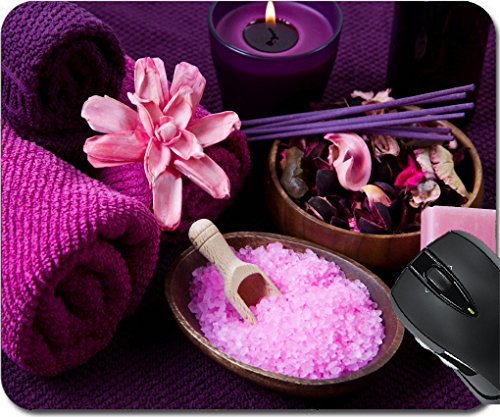 MSD Mousepad Mouse Pads/Mat design 24030886 pink Spa tools with candle and towel