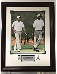 Framed Michael Jordan & Tiger Woods 11x14 Golf Basketball Photo Professionally Matted 19x23 Total Size