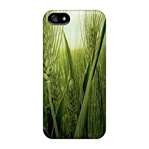 New Style DaimiMall Macro Wheat Spring Album Premium Tpu Cover Case For Iphone 5/5s