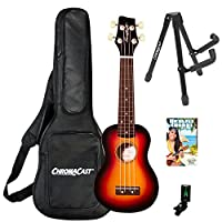 Sawtooth Basswood Ukulele with Quick Start Guide & ChromaCast Accessories