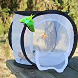 Insect & Butterfly Habitat / Village / Residence / Terrarium 12x12x12 inches; Easy Zip-Open Door; Collapsible for Storage