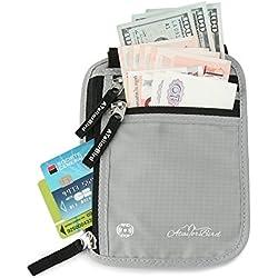 Neck Wallet, ATailorBird RFID Blocking Travel Wallet Anti-theft Neck Passport Holder Neck Pouch Traveling Accessories For Men Women