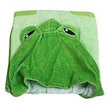 Happy Cherry Kids Hooded Poncho Cartoon Bath/Beach Towel - 85*60cm - Green Frog