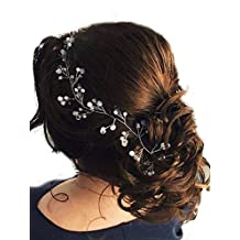 Missgace 39.4 inch Long Bridal Hair Vine Bridal Wreath Bridal Tiara Diadem