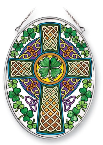 - Amia 41353 Celtic Cross 5-1/2 by 7-Inch Oval Sun Catcher, Medium