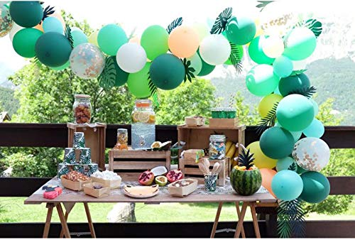 70PCS Jungle Party Balloons Decoration Kit, Safari Baby Shower Animal Party Balloons 16 Feet Balloons Arch for Kids Boys Girls Birthday Decor Zoo Themed Party Supplies]()