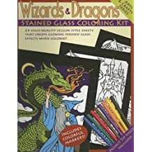 Wizards and Dragons Stained Glass Coloring Kit