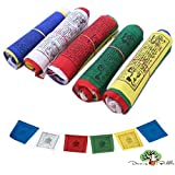 Dancing Buddha Buddhist Prayer Flags - Pack of 50 (4.5In x 5.5In)