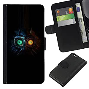 LECELL--Cuero de la tarjeta la carpeta del tirón Smartphone Slots Protección Holder For Apple Iphone 5C -- Dos búho Faced --