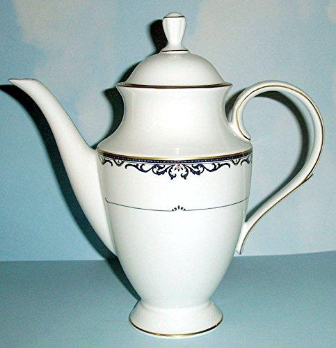 - Lenox ROYAL SCROLL Coffee Pot Cobalt Blue 48 oz. New