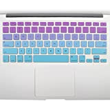 All-inside Pink and Blue Green Ombre Keyboard Skin for MacBook Pro 13