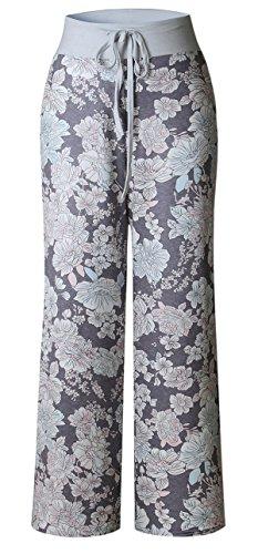 Sexymee Women's Stretch Cotton Knit Pajama Pants - Cotton Stretch Knit Pants