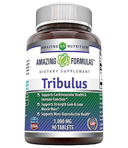 Amazing Formulas Tribulus Terrestris Extract 1000 MG Tablets, 90ct (Non GMO,Gluten Free, Vegan) – Standardized to…