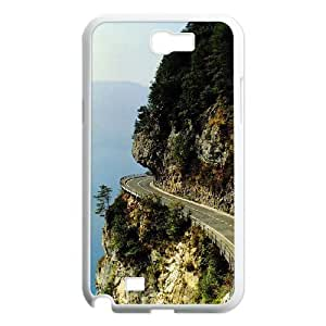 samsung galaxy note 2 Case for Beautiful Road Shell Phone Case JFLIFE(TM) [Pattern-4]