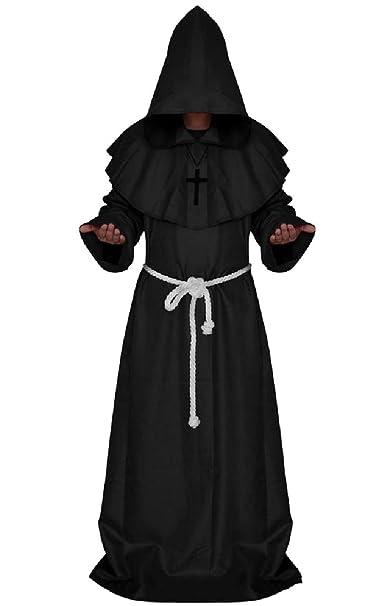 Amazon com: YUNY Men's Cosplay Solid Halloween Sorcerer Hood