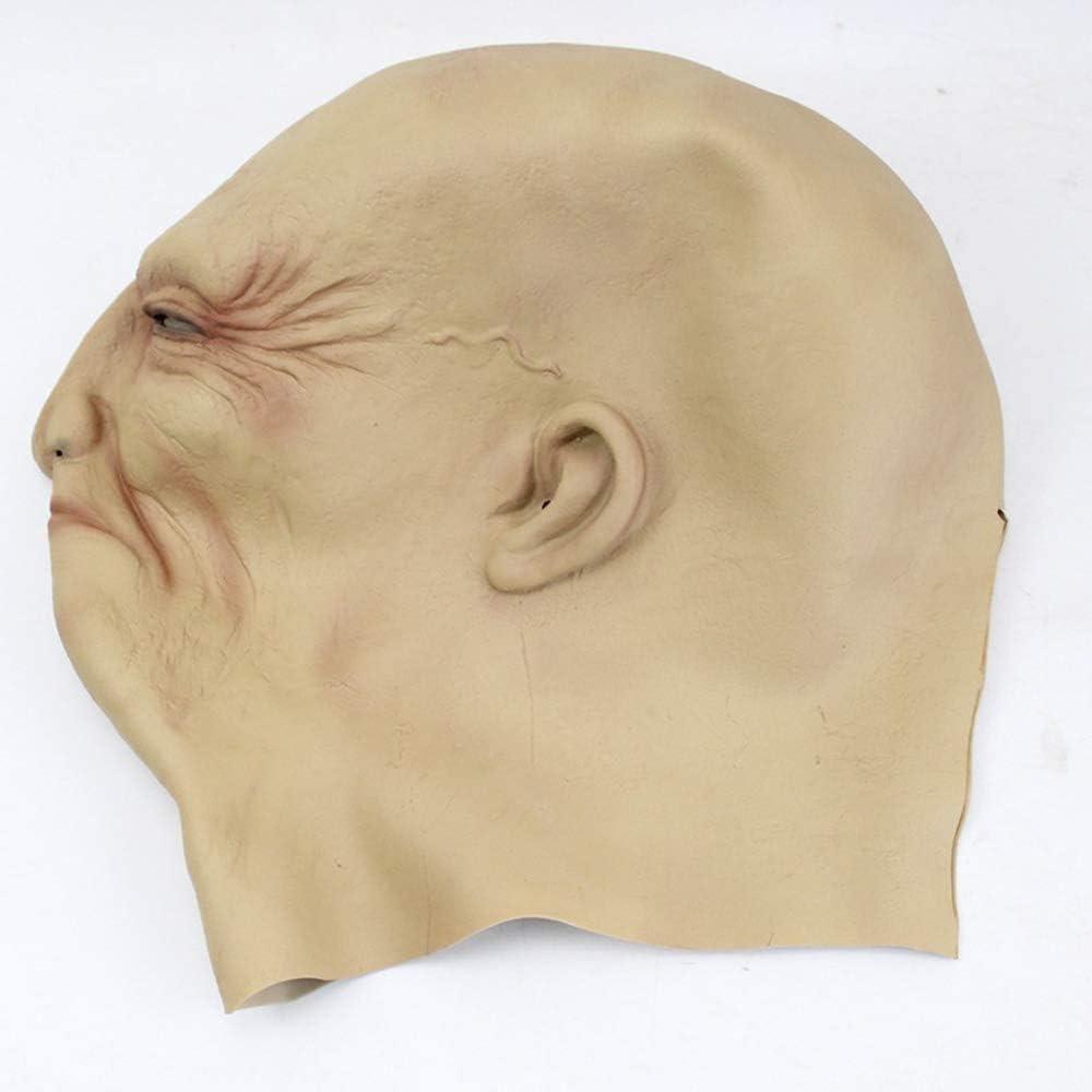Adame Lanziano Copricapo da Uomo Anziano per la Decorazione di Copricapo Realistico di Halloween in Maschera A