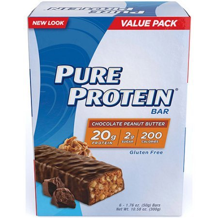 Pure Protein High Protein Bars, Chocolate Peanut Butter, 1.76 Ounce, 6 Count (Pack of 3)