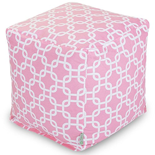 Bean Cube (Majestic Home Goods Links Indoor / Outdoor Bean Bag Ottoman Pouf Cube, 17