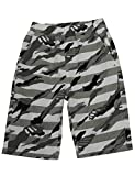 BYCR Boys' Solid Color Cotton Elastic Waist Shorts for Kids No. 7182100192 (130 (US Size 6-7), Green)