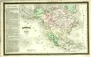 Amazon.com: ANTIQUE MAP-NORTH-CENTRAL AMERICA-Giraldon ...