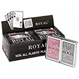 CHH Royal 100% Plastic Bridge Big Numbers Playing Cards (6 Pack)